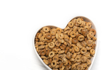 oats in a heart shaped bowl