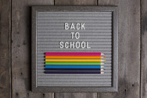 Back to school sign