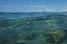 ocean water above a coral reef