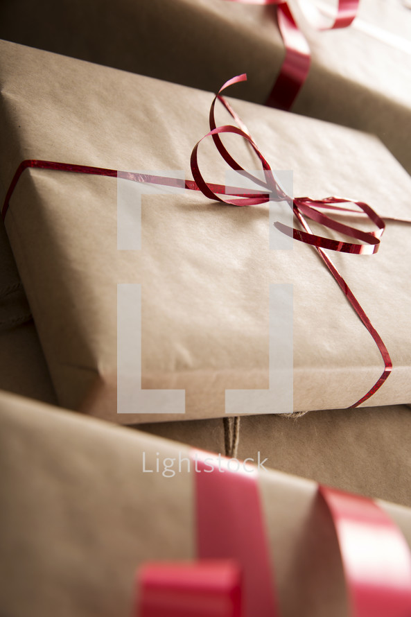 wrapped Christmas gifts