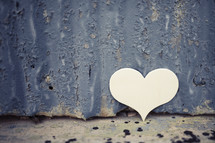 paper heart and grunge background