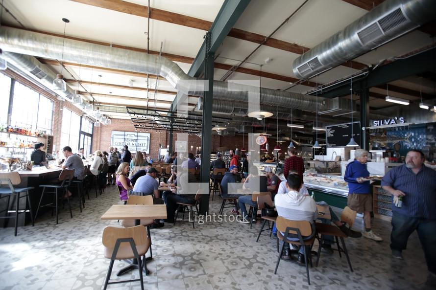 a busy restaurant