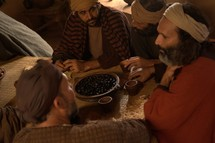Jesus eats with His Disciples