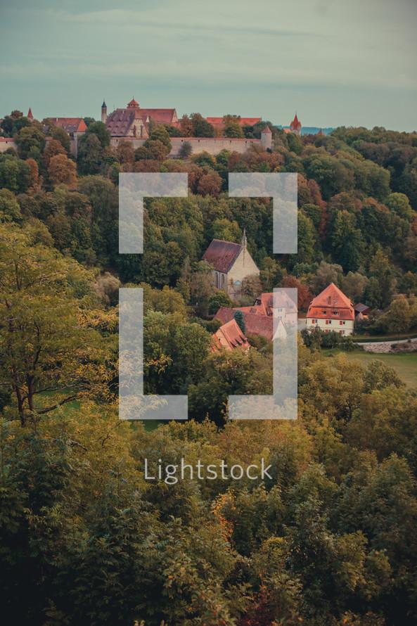 European village in the hills