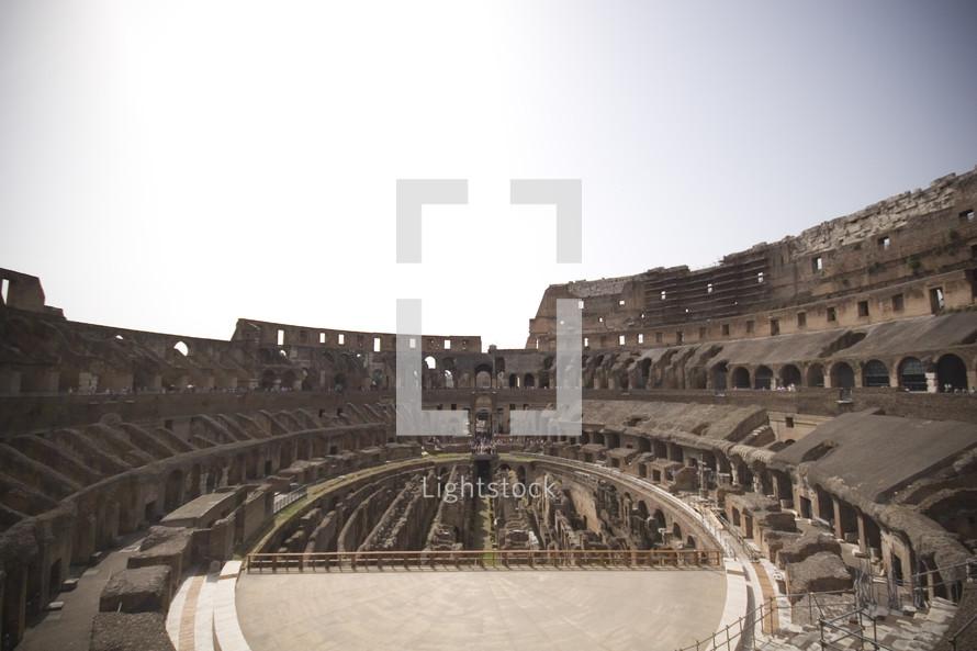 Interior of Coliseum in Rome