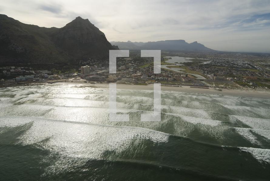 tide coming onto a beach