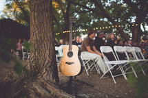guests at an outdoor wedding