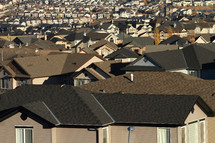 Rooftops in urban housing development