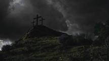 three crosses on the mount