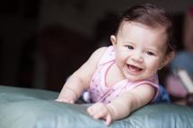 crawling infant girl