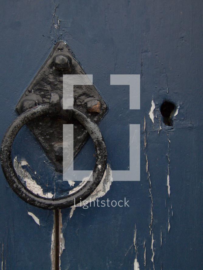 Rusted door knocker
