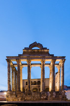 columns on ancient ruins
