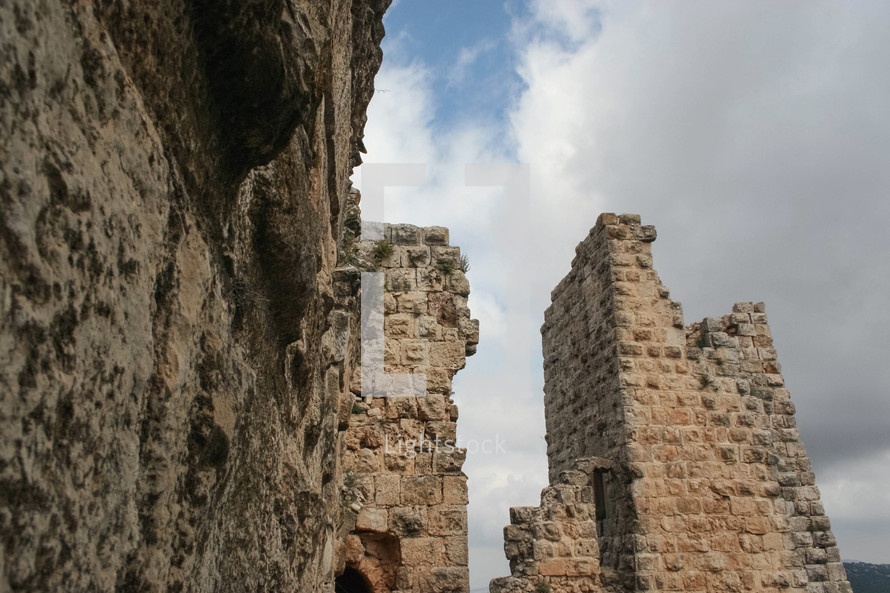 ruins at an historic site in Jordan