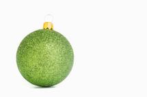 green glitter ornaments
