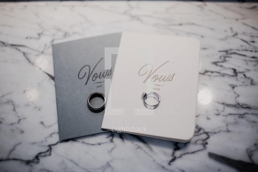 vows with wedding bands