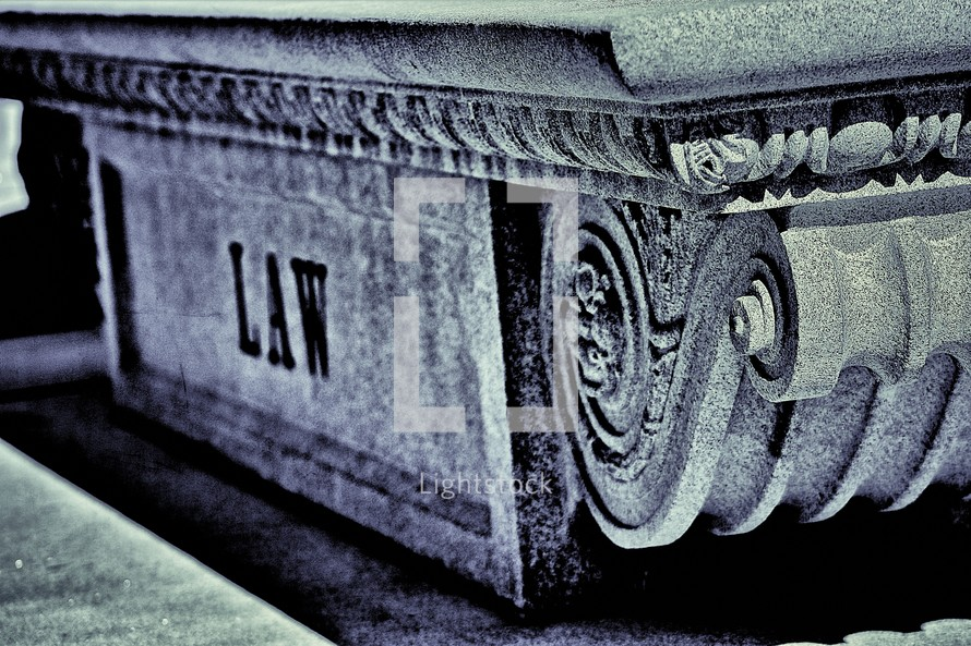 Greek or Roman architecture, sign - Law