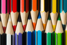 colored pencils closeup