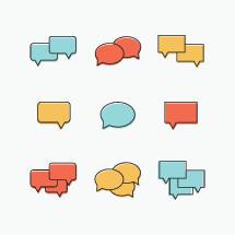 speech bubbles illustrations.