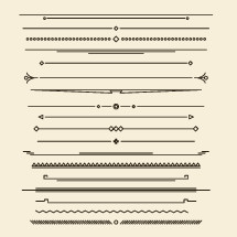 modern ornamental lines