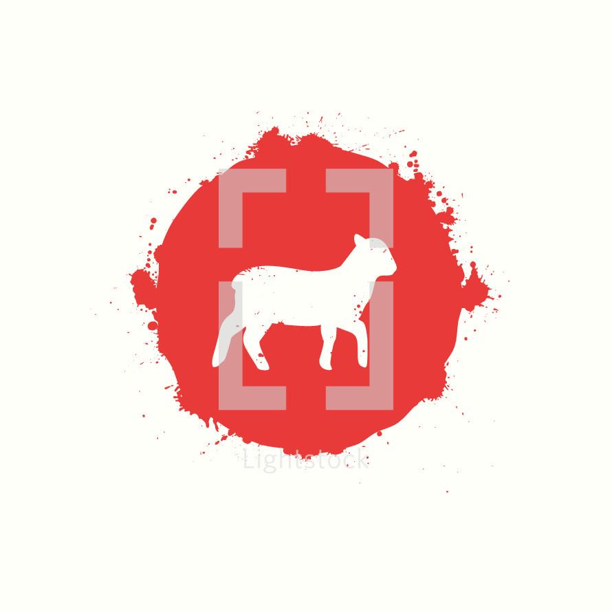 lamb in a blood drop