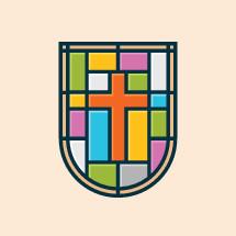 Tiled cross shield emblem.