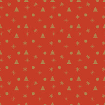 Christmas red and gold pattern