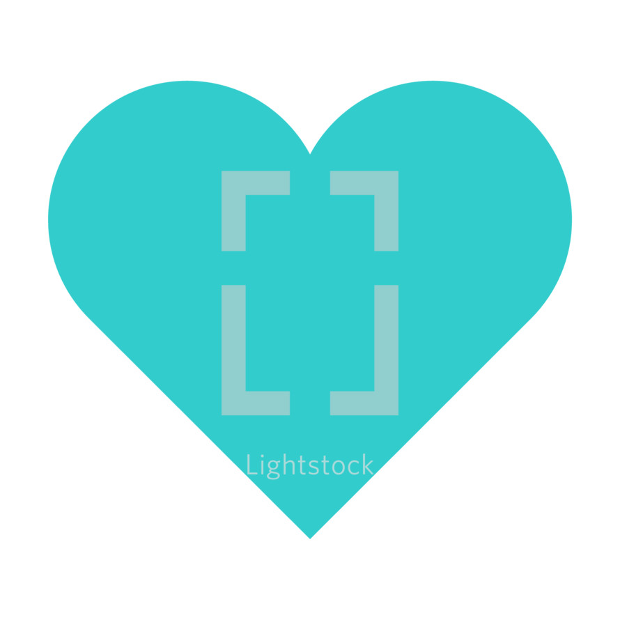 Blue heart icon isolated on white background. The green heart symbol for love emotions created in flat design style. The multimedia turquoise heart button is intended for an audio music or movie video player. The green heart icon for the content you like is designed to use a Graphical User Interface. The medical blue heart sign can be used for the cardiology department at the clinic for heart disease. The design graphic element is saved as a vector illustration in the EPS file format for your design projects.