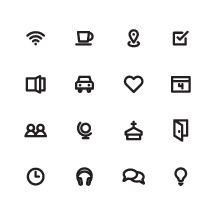 church web icons set.