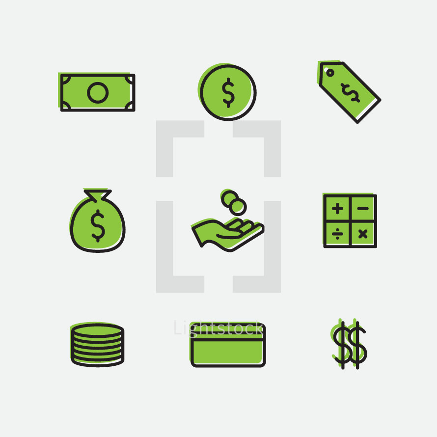 finance and money icons