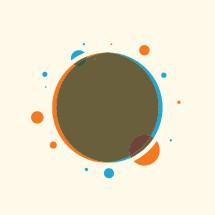 abstract circle badge