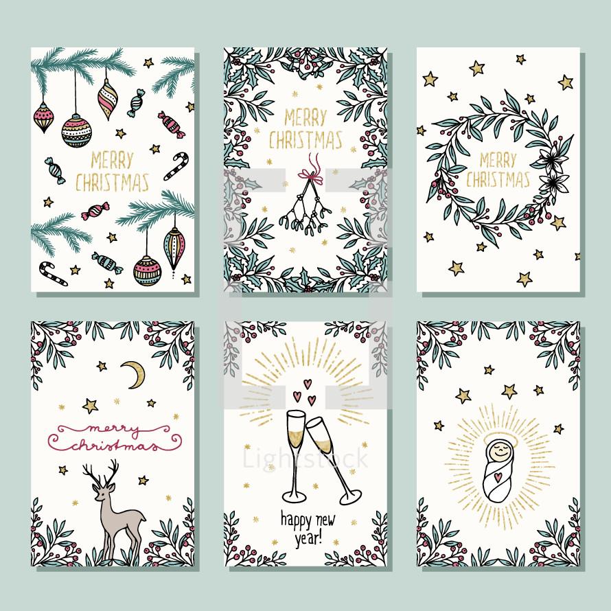 Christmas card covers
