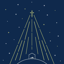 Modern nativity illustration.