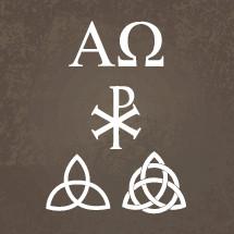 Alpha, Omega, trinity, Christ symbols, symbols, icons