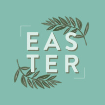 Easter and palm branches