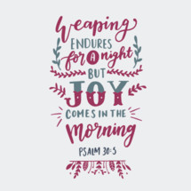 weaping endures for a night but joy comes in the morning Psalm 30:5