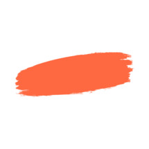 The orange paint brush stroke is drawn by hand. Paintbrush drawing on canvas. Hand-drawn brushstroke red texture on paper. Rectangle shape. The graphic element saved as a vector illustration in the EPS file format for used in your design projects.