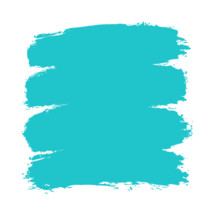 The teal turquoise paint brush stroke is drawn by hand. Paintbrush drawing on canvas. Hand-drawn brushstroke green blue texture on paper. Square shape. Rectangle shape. The graphic element saved as a vector illustration in the EPS file format for used in your design projects.