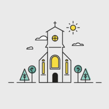sunny church icon