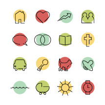 Modern family icon pack.