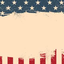 American flag border