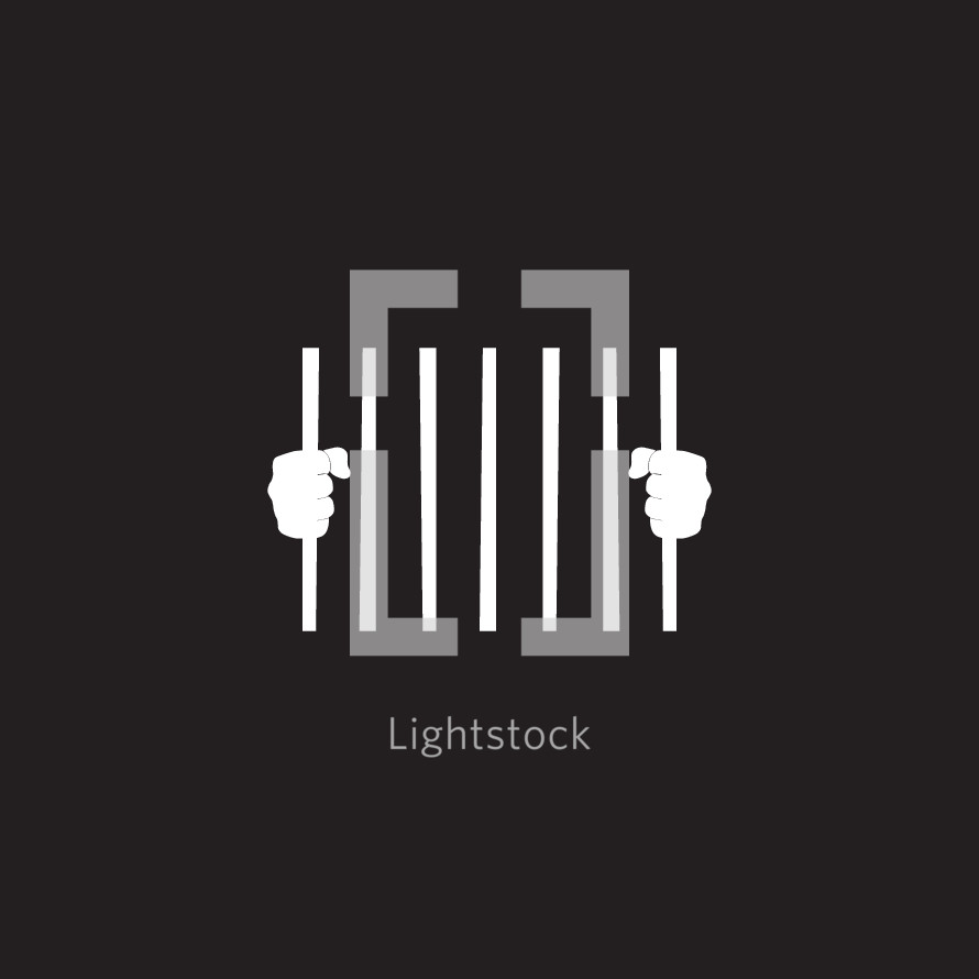 human trafficking concept behind bars