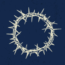 hand drawn crown of thorns illustration.