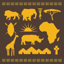 African vector elements.