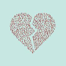 broken heart crowd of people