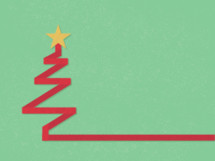 ribbon Christmas tree icon