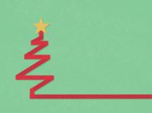 ribbon Christmas tree icon