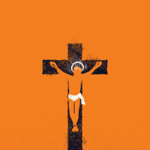 crucifixion illustration.