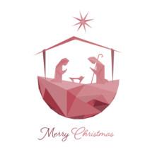 Merry Christmas Nativity Scene