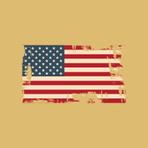 American Flag grunge illustration.