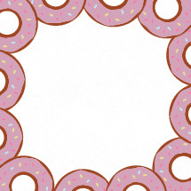 frosted donut border illustration.